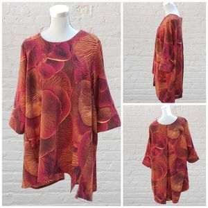 Melissa McCarthy 7 floral tunic size 2X